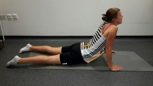 Lying Abdominal and Lower Back Stretch