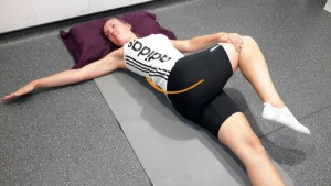 Lying Buttocks and Lower Back Stretch