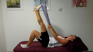Lying Calf Stretch
