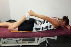 Lying Front Thigh Stretch