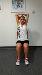 Seated Back of Arm Stretch
