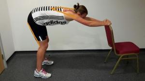 Standing Shoulders Back and Hamstring Stretch