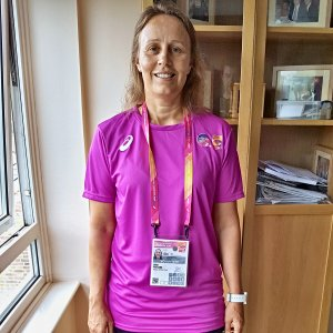 In my IAAF world Championship Uniform, Medical Team 2017